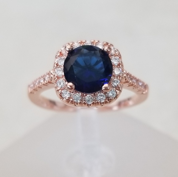 18k Over Sterling Sapphire Ring